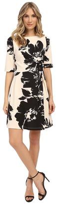 Christin Michaels Celeste 3/4 Sleeve Flare Dress $89 thestylecure.com