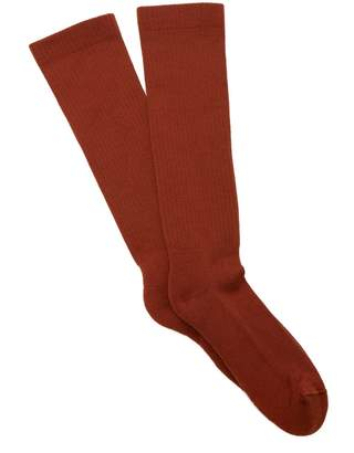 Rick Owens Wool-blend mid-calf socks