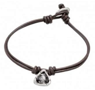 Uno de 50 Leather Stone Bracelet