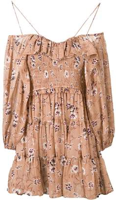 Ulla Johnson floral cold-shoulder dress