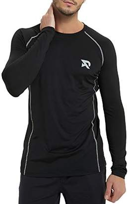 RADHYPE Men Polyester Fitted Long Sleeve Athletic Tshirt Training Top XXL
