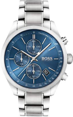BOSS Hugo Men's Chronograph Grand Prix Stainless Steel Bracelet Watch 44mm 1513478