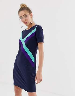Monki sport stripe t-shirt dress