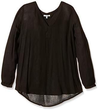 Kaffe Women's Loose Fit Long Sleeve Blouse - Black