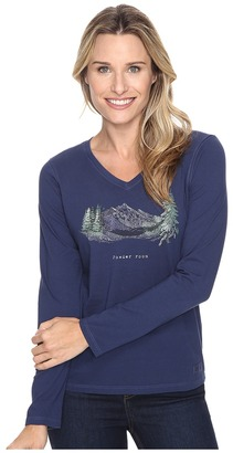 Life is good Powder Room Mountains Long Sleeve Crusher Vee $30 thestylecure.com