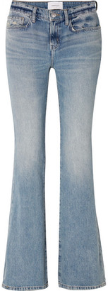 Current/Elliott The Jarvis Mid-rise Flared Jeans - Light denim