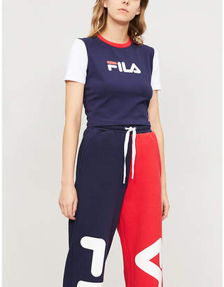 Fila Anna logo-print stretch-cotton T-shirt