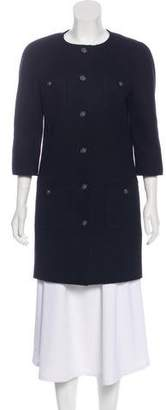 Chanel Wool & Silk-Blend Coat