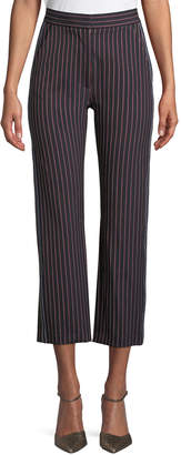 See by Chloe Striped Straight-Leg Trousers