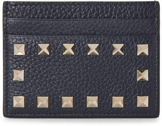 Valentino Marine Navy Rockstud Card Case
