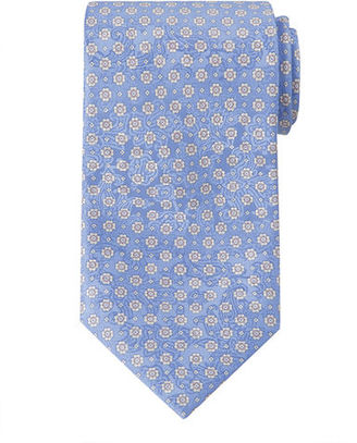 Stefano Ricci Neat Floral-Print Silk Tie $275 thestylecure.com