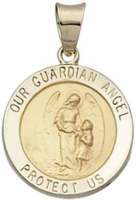 14K Gold Our Guardian Angel Medal