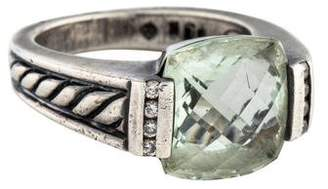 David Yurman Prasiolite & Diamond Ring