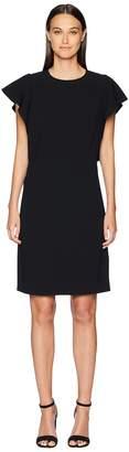 Escada Diat Ruffle Side Short Sleeve Dress Women's Dress