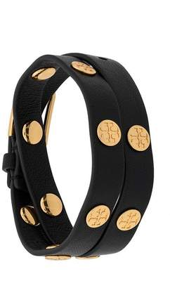 Tory Burch double wrap studded bracelet