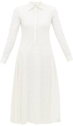 Jil Sander Floral Eyelet Lace Voile Midi Dress - Womens - Ivory