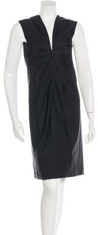 prada Prada Sleeveless Midi Dress