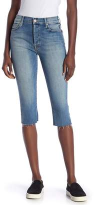 Mother The Stunner Knicker Frayed Capri Jeans