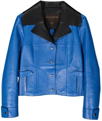Louis Vuitton Blue Leather Leather jackets
