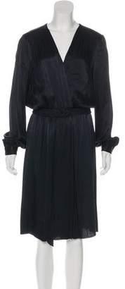 L'Agence Long Sleeve Midi Dress
