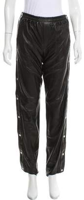 A.L.C. Mid-Rise Leather Jogger Pants