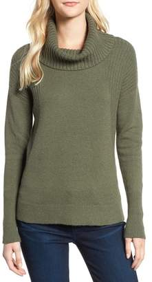Caslon Cozy Rib Detail Relaxed Turtleneck