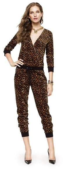 Juicy Couture Leopard Velour Romper