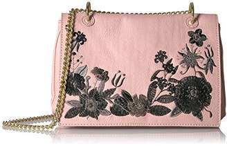 T-Shirt & Jeans Flap Cross Body with Embroidery and Chain Strap