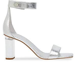 KENDALL + KYLIE Women's Metallic Leather Ankle Strap Sandals