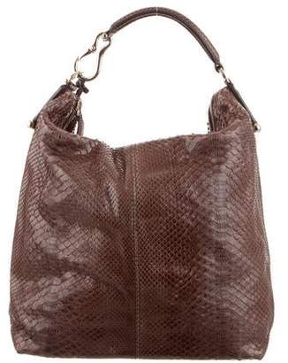 Pre Owned At Therealreal Vbh Python Convertible Satchel