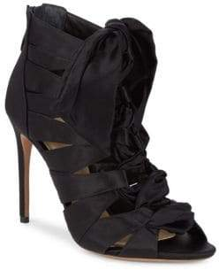 Alexandre Birman Lace-Up Stiletto Booties