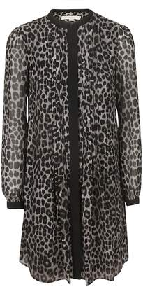 Michael Kors Animal Print Mid-length Cardigan