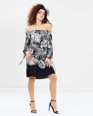 Bardot Palm Print Dress