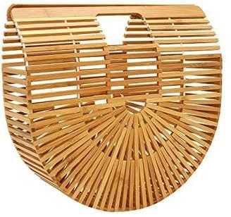 Ya-Ya Beauty Womens Bamboo Handbag Handmade Tote Bag Beach Bag Shopping Bag