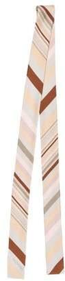 Valentino Striped Printed Silk Scarf