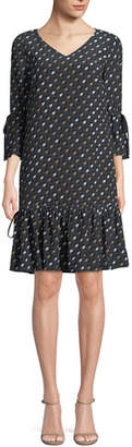Lafayette 148 New York Ana-Grace Gliding Geo Drop-Waist Dress