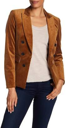 Veronica Beard Cutaway Faux Double Breasted Jacket