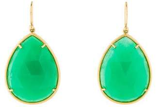 Irene Neuwirth 18K Chrysoprase & Diamond Drop Earrings