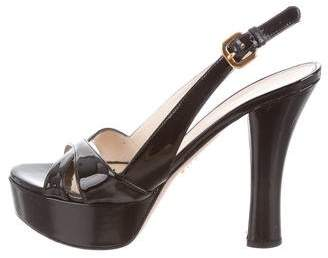 Prada High-Heel Platform Sandals