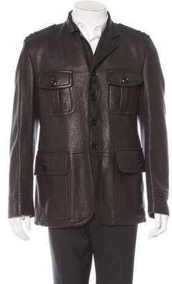 Tom Ford Leather Utility Jacket