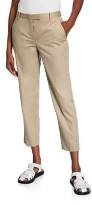 The Row Clark Cotton Slim-Leg Ankle Pants