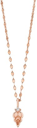 Lauren Conrad Leaf Lab-Created White Sapphire Pendant Necklace