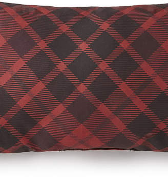 Toile Back In Black Long Rectangle Pillow - Red Plaid Bedding