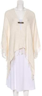 The Kooples Textured Frayed Poncho