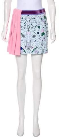 Mary Katrantzou x Adidas Pleated Mini Skirt