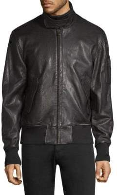 Joe's Jeans Leather Military Bomber