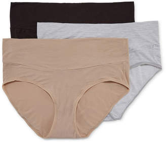 Playtex Maternity 3 Pair Knit Brief Panty Pmmdbf
