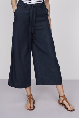 Long Tall Sally Belted Tencel Culotte