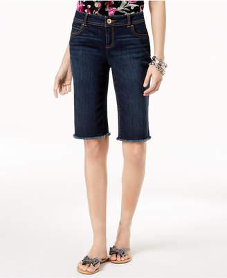 INC International Concepts I.n.c. Curvy-Fit Frayed-Hem Shorts, Created for Macy's