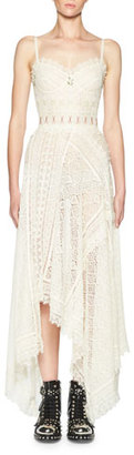 Alexander McQueen Corset-Bodice Lace Gown, Ivory $8,895 thestylecure.com
